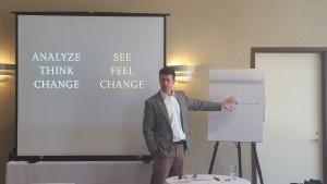 Dan Heath helps SightLife talk through how they will reach their goal.