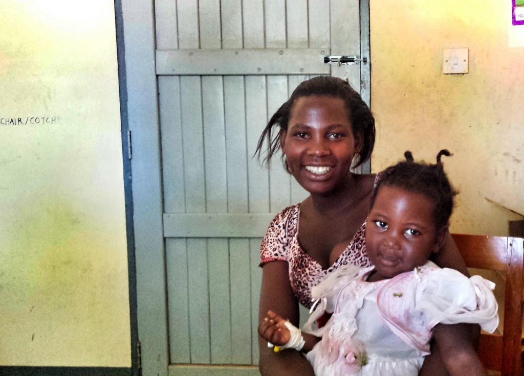 Zaina and Shanita (pictured) are both happy that the day at the clinic has been a success!
