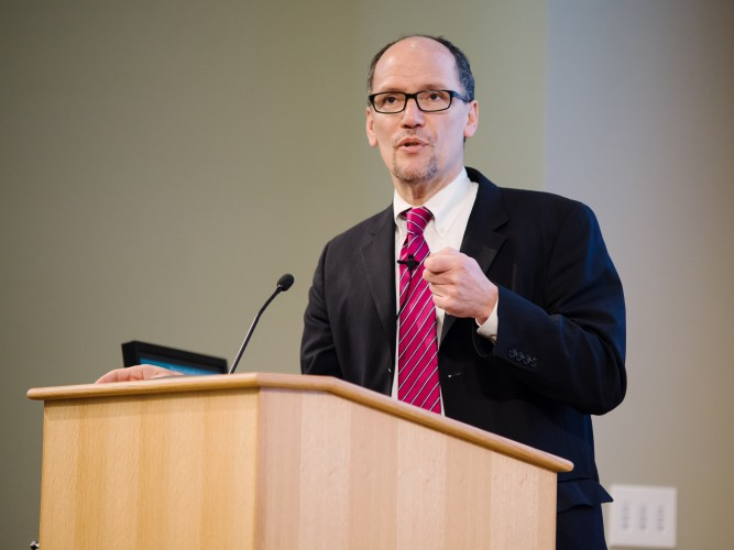 US Secretary of Labor Thomas E. Perez at the Sustainable Business and Social Impact (SBSI) Conference