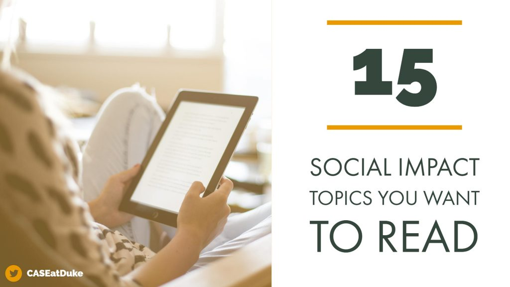 15 Social Impact Research Topics You Want to Read - CASE