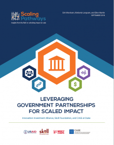 Scaling Pathways, Government Partnership Theme Study