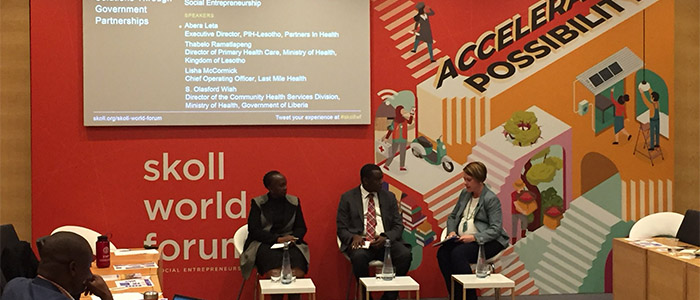 Skoll World Forum Panel on Government Partnerships