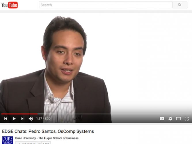 Video: Pedro Santos, OsComp Systems
