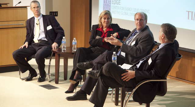 "Time/Fortune magazine and Shell Oil hosted a CEO panel on the topic of ""Energy for Tomorrow"" at Fuqua School of Business"