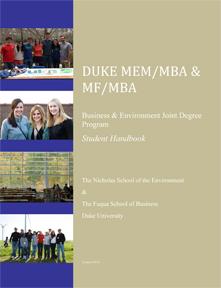 MEM/MBA & MF/MBA Handbook