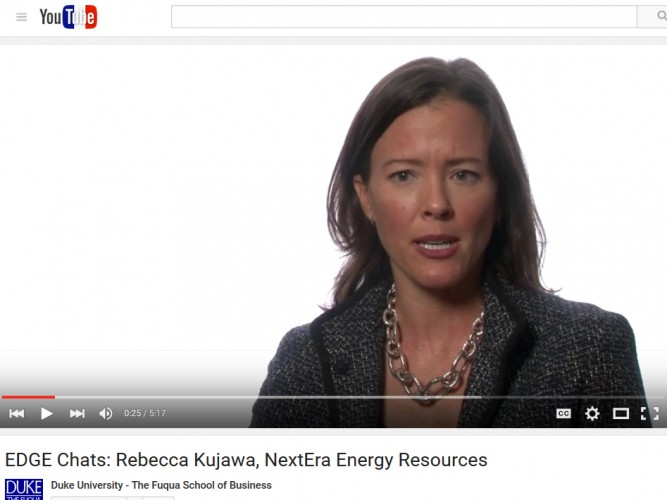 Video: Rebecca Kujawa, Vice President of Business Management for NextEra Energy Resources