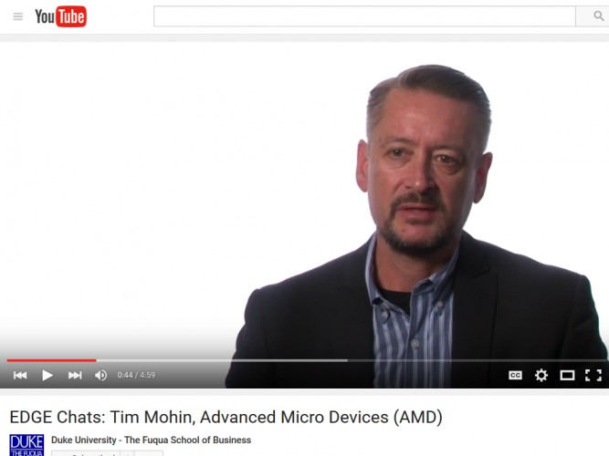 Video: Tim Mohin, Director of Corporate Responsibility, AMD