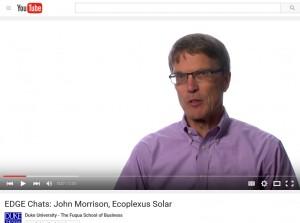 Video: John Morrison, COO of Ecoplexus Solar