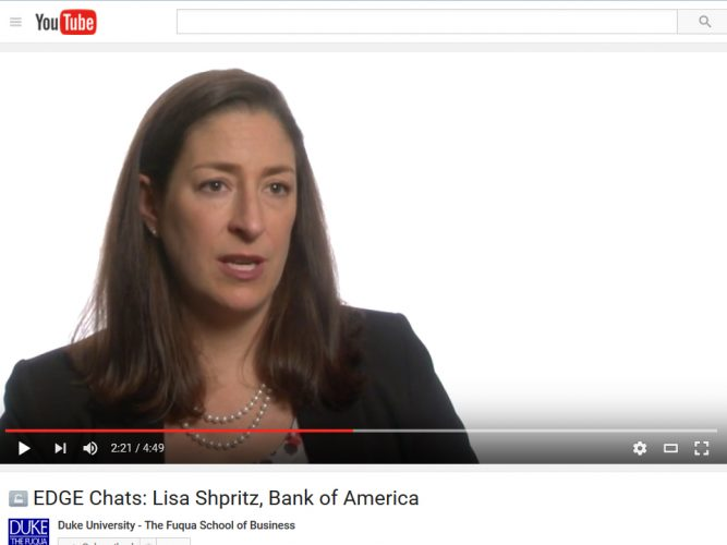 Lisa Shpritz, Bank of America