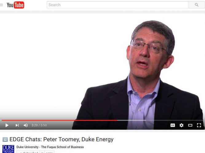 Peter Toomey, Duke Energy