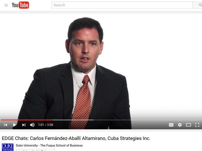 Video: Carlos Fernandez-Aballi, Cuba Strategies