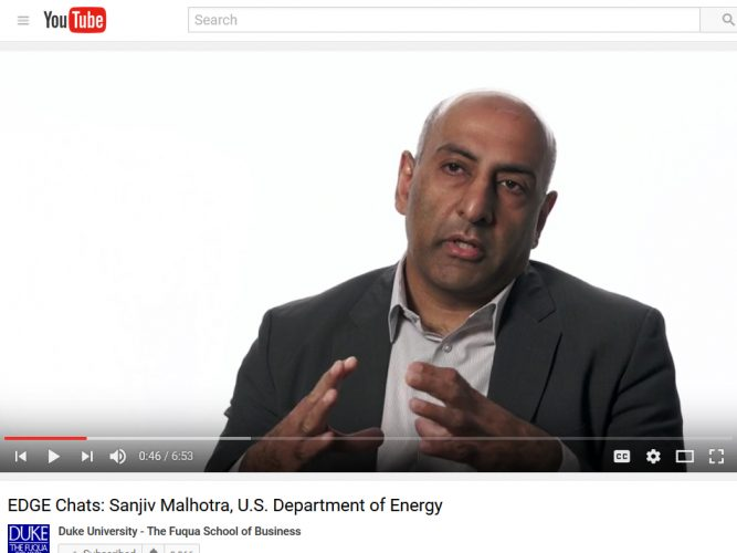 Video: Sanjiv Malhotra, US Department of Energy (DOE)